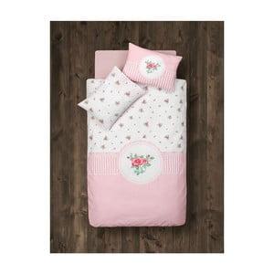 Dětské povlečení s přikrývkou, dekou a zábranou do postýlky Lovely Rose, 95x145 cm