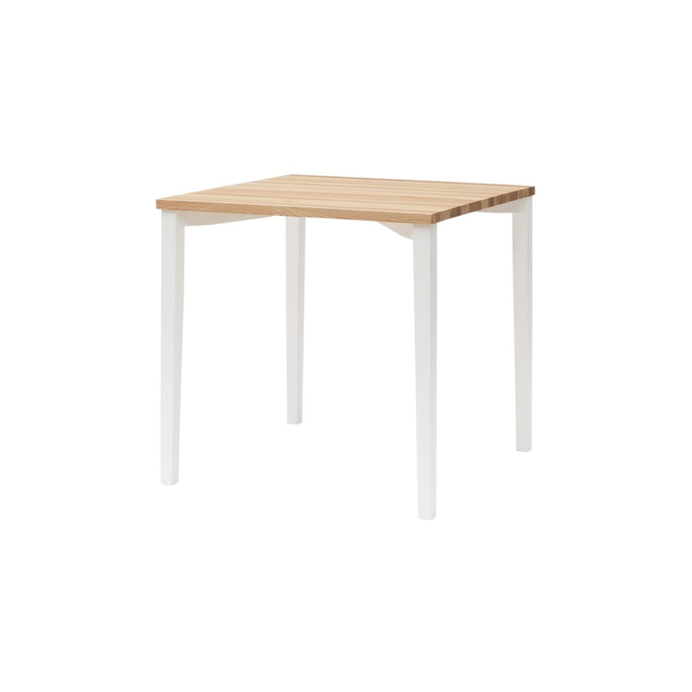 Bílý jídelní stůl Ragaba TRIVENTI, 80 x 80 cm