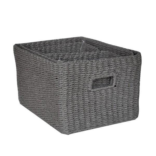 Sada 4 košíků Regate Dark Grey, 32x26 cm