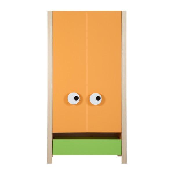 Oranžovo-zelená dvoudveřová skříň Vox Meee