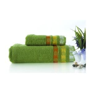 Set dvou ručníků Truva Green, 90x150 a 50x90 cm