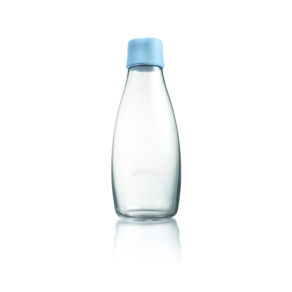 Pastelově modrá skleněná lahev ReTap s doživotní zárukou, 500ml