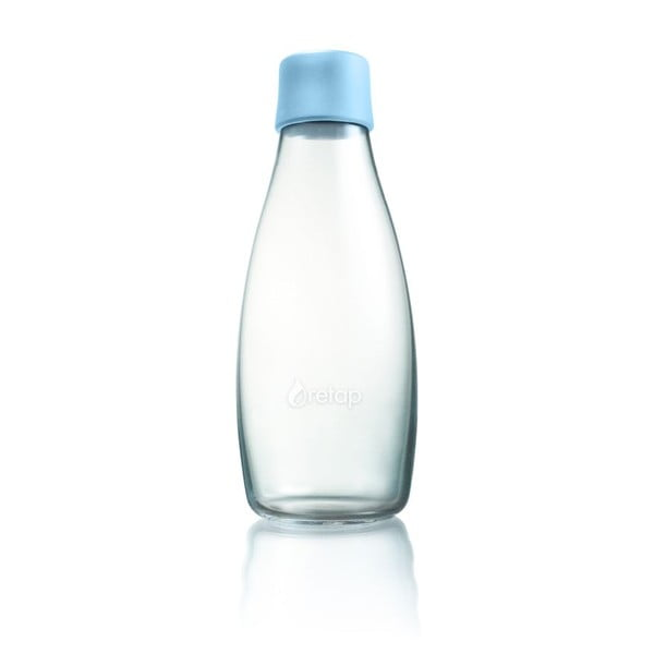 Pastelowo niebieska butelka ze szkła ReTap z dożywotnią gwarancją, 500 ml
