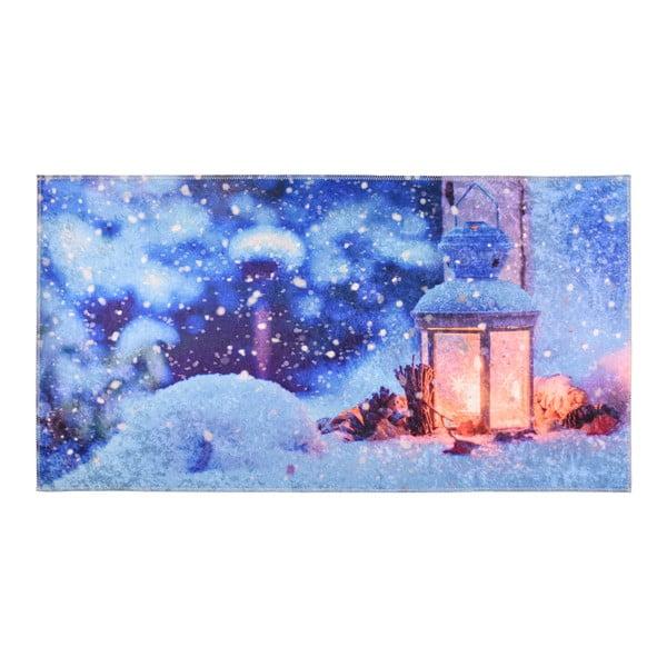 Niebieski dywanik Vitaus Lantern, 50x80 cm
