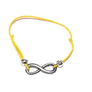 Žlutý náramek Infinity