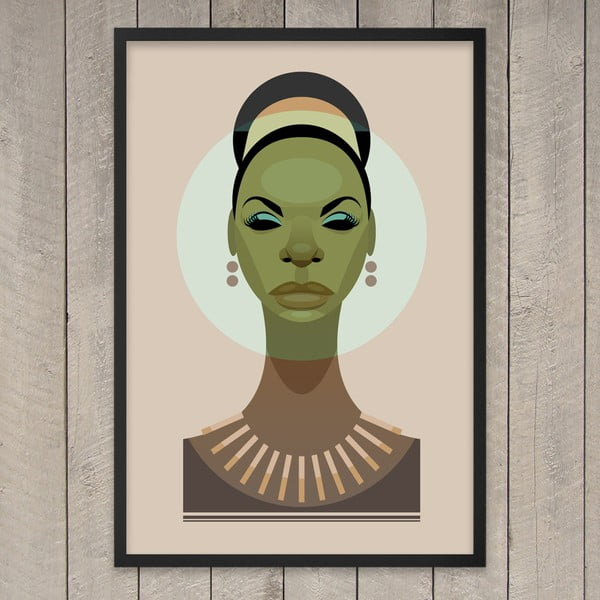 Plakát Nina Simone, 29,7x42 cm