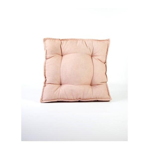 Square világos rózsaszín kevert len párna, 37 x 37 cm - Surdic
