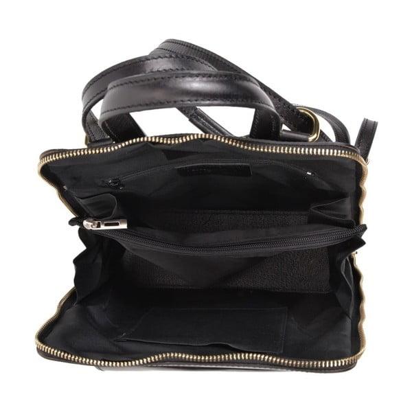 Černý kožený batoh Anna Luchini Zunna