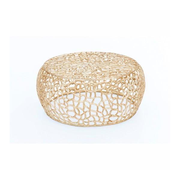 Konferenční stolek ve zlaté barvě WOOX LIVING Honey, ⌀73cm