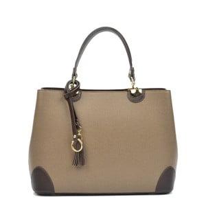 Krémová kožená kabelka s černými detaily Isabella Rhea London Fango