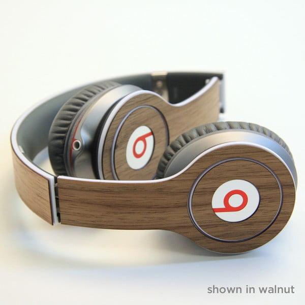 Dřevěný skin pro sluchátka Beats Solo, ořech