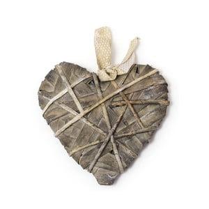 Decorațiune suspendată în formă de inimă Ego dekor, lungime 30 cm