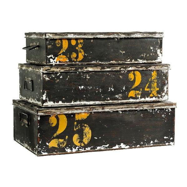 Set 3 boxů Antique Black