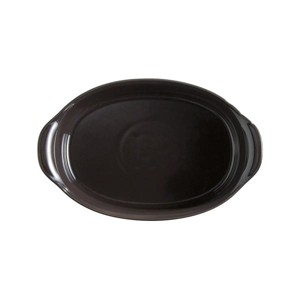 Vas oval de copt Emile Henry, 1,3 l, negru piper