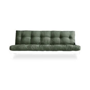 Canapea extensibilă Karup Design Indie White/Olive Green, verde de la Karup Design