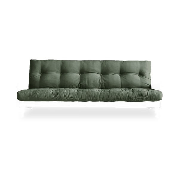 Indie White/Olive Green zöld kinyitható kanapé - Karup Design