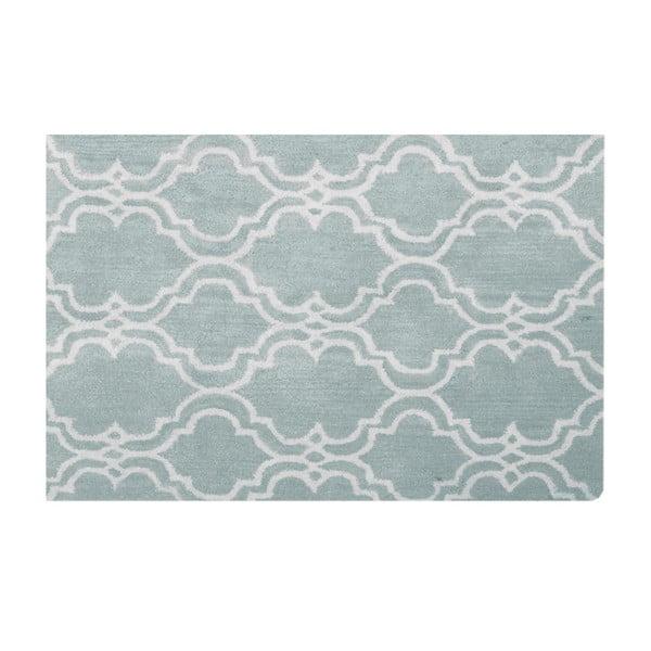 Světle modrý vlněný koberec Bakero Riviera, 122x183cm