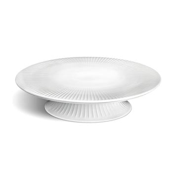 Tavă din porțelan pentru tort Kähler Design Hammershoi Cake Dish, ⌀ 30 cm, alb