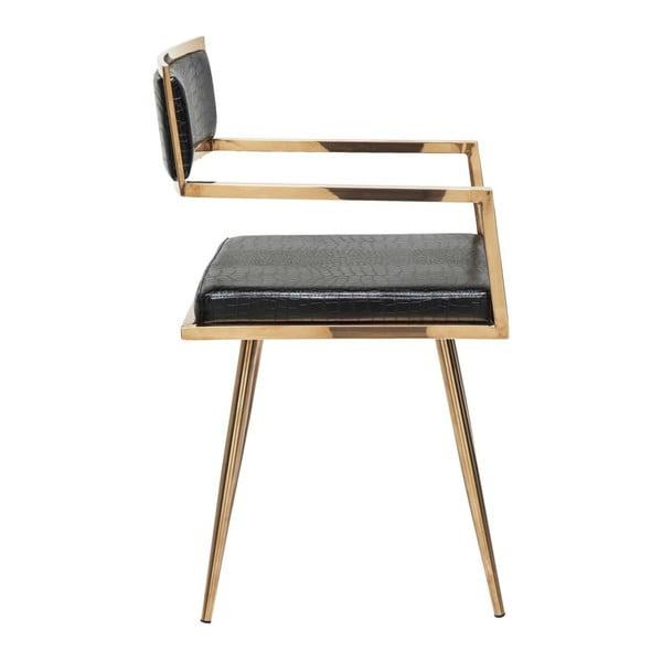 Židle z nerezové oceli s koženým potahem Kare Design Jazz