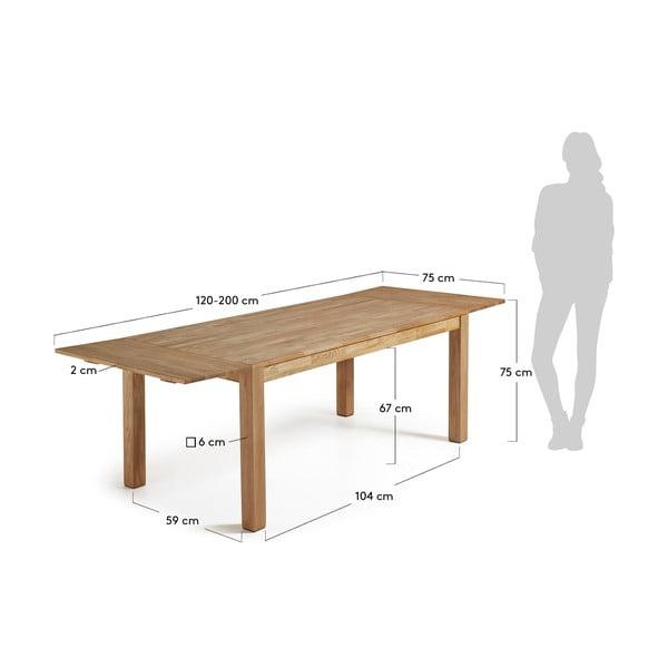 Rozkládací jídelní stůl La Forma Indra, délka120-200cm
