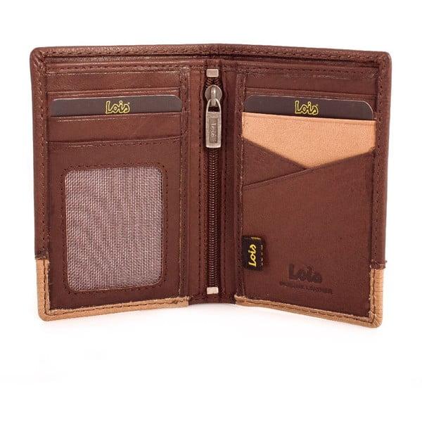 Kožená peněženka Lois Wood, 11x8 cm