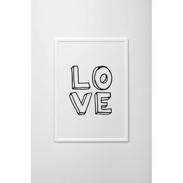 Autorský plakát Written Love, vel. A3