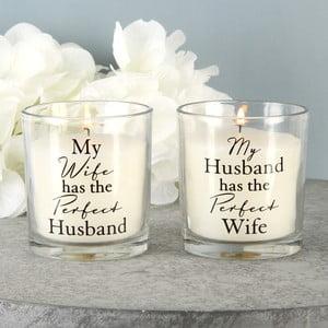 Sada 2 svíček s vůní bavlny Amore Perfect, 18hodinhoření