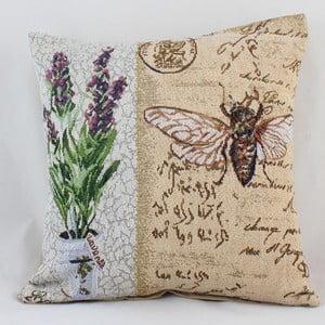 Povlak na polštář Dakls Lavender Bee, 40 x 40 cm