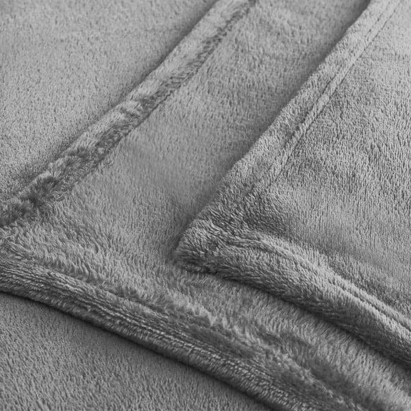 Světle šedá deka z mikrovlákna DecoKing Mic, 200x220cm