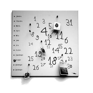Magnetický kalendář dESIGNoBJECT.it Krok White,50x50cm