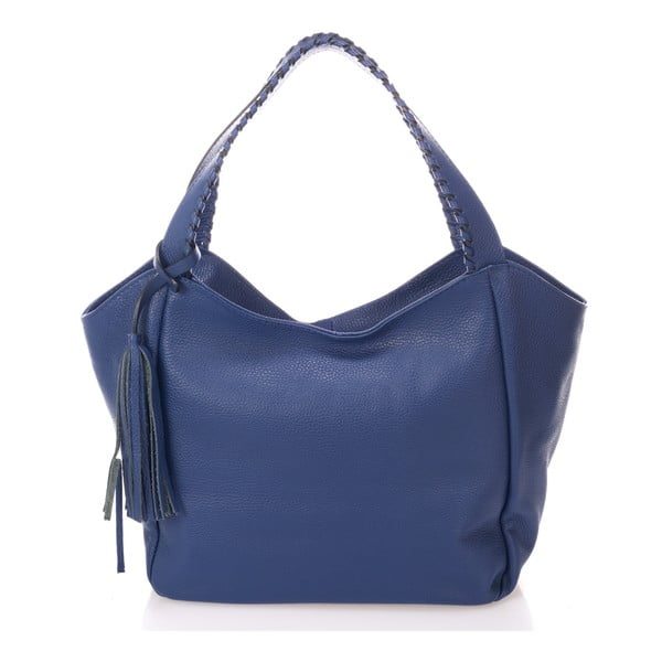 Modrá kožená kabelka Giulia Massari Lora