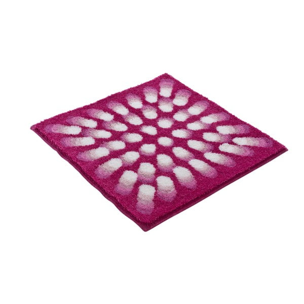 Koupelnová předložka Kolor My World VII 60x60 cm, růžová