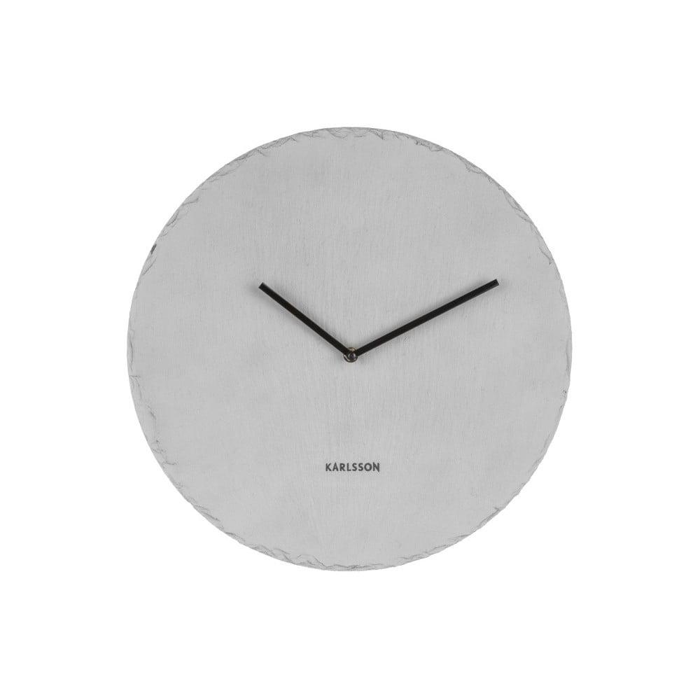 1012d9dbe92 Šedé nástěnné břidlicové hodiny Karlsson Slate
