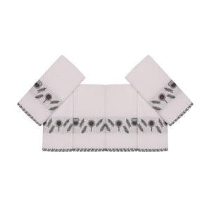 Sada 6 béžových bavlněných ručníků Beyaz Kanaro, 30 x 50 cm