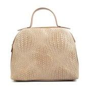 Hnědobéžová kožená kabelka Isabella Rhea Truti
