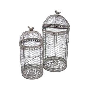 Sada 2 dekorativních klecí Birdcage