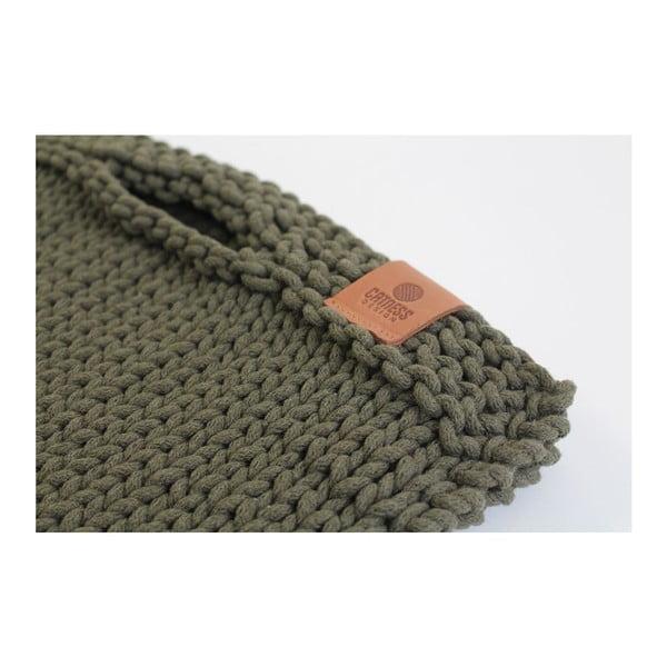 Pletená kabelka Catness, zelená, 35x38 cm