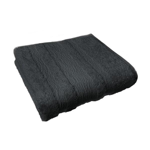 Osuška Ziczac 70x140 cm, černá
