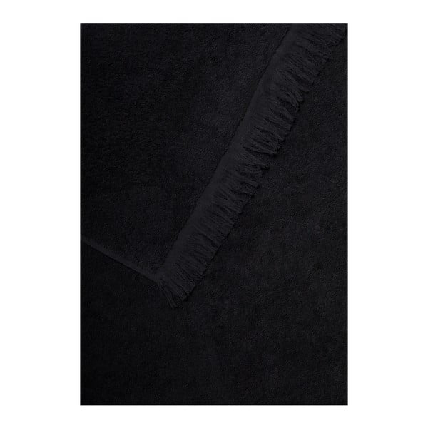 Set 2 černých bavlněných ručníků a 2 osušek Casa Di Bassi Bath