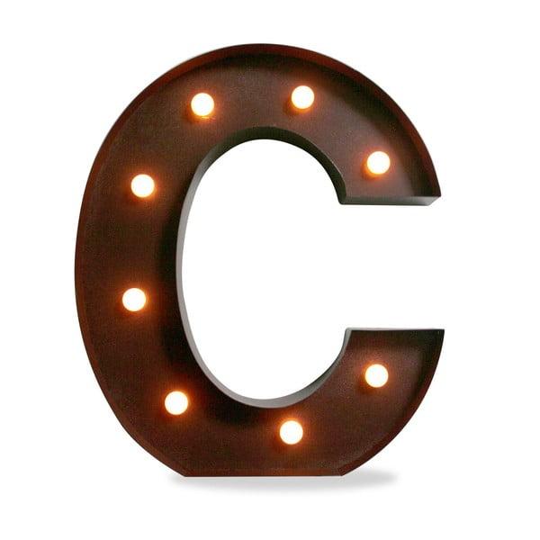 Světelná LED dekorace Letter C