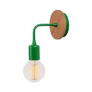 Zelené nástěnné svítidlo Simple Drop Wood