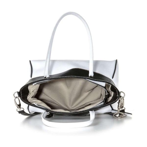 Kožená kabelka Sabrina Black & White
