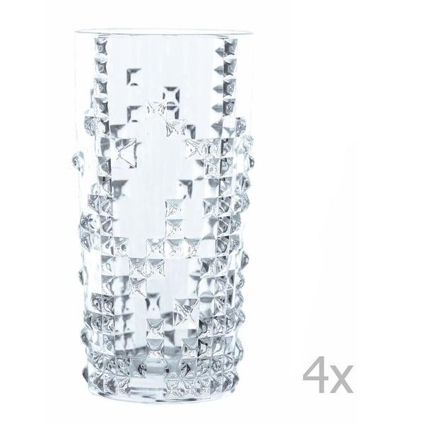 Sada 4 pohárov z krištáľového skla Nachtmann Punk Long Drink, 390 ml