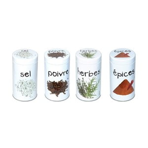 Set 4 recipiente condimente Incidence Gourmet Spices