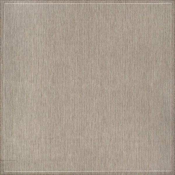 Béžový venkovní koberec Floorita Tatami, 200 x 200 cm