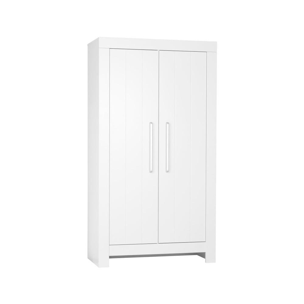 Bílá dvoudveřová šatní skříň Pinio Calmo
