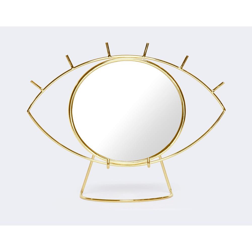 Stolní zrcadlo ve zlaté barvě DOIY Cyclops, 26 x 20,5 cm
