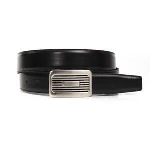 Černý kožený pásek Trussardi Ispica, délka 110 - 125 cm