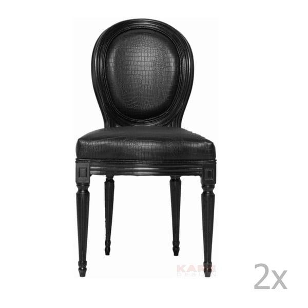 Sada 2 černých židlí Kare Design Louis