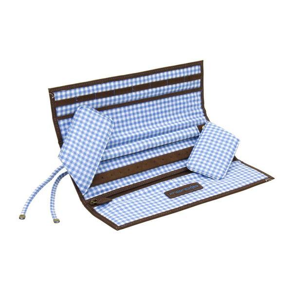 Šperkovnice Roll Bavaria Brown/Blue, 27x9,5x3 cm